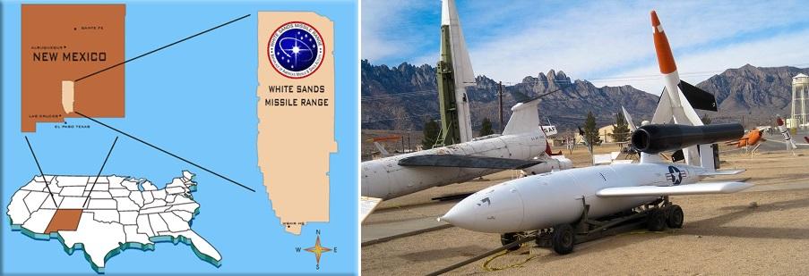 White Sands New Mexico ohjuskoealue.