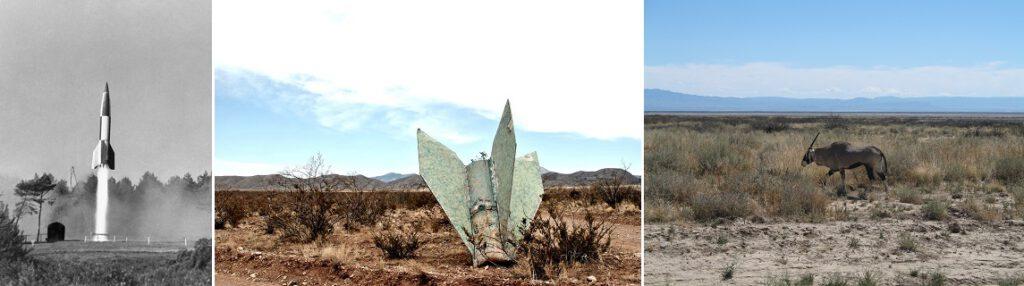 White Sands -ohjusharjoitusalue, New Mexico.
