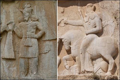 Ahura Mazda reliefejä