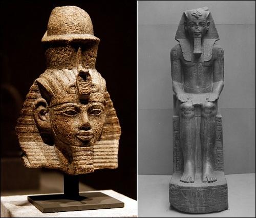 Faarao Amenhotep III patsaita.