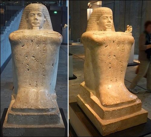 Ylhäisen Amun-pappi Bakenkhonsun patsas.