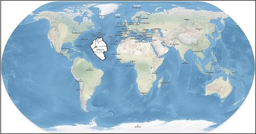 Mereen uponnut saari tai manner Atlantis.