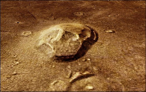 Cydonian alue planeetta Marsin pinnalla.