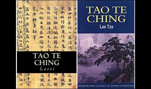 Kirjan Tao Te Ching tai Daodejing kansikuvia.