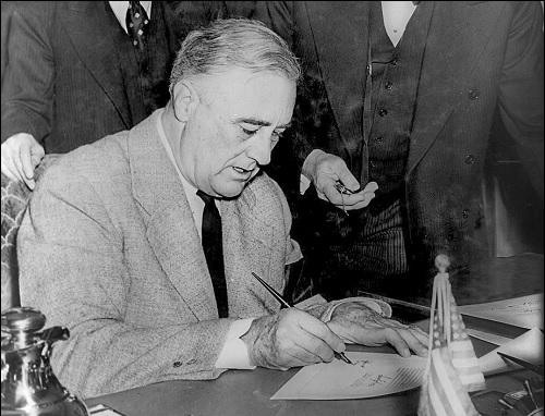 Yhdysvaltain 32. presidentti Franklin D. Roosevelt.