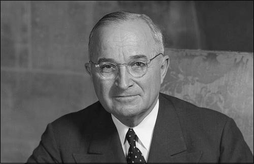 Yhdysvaltojen 33. presidentti Harry S. Truman.