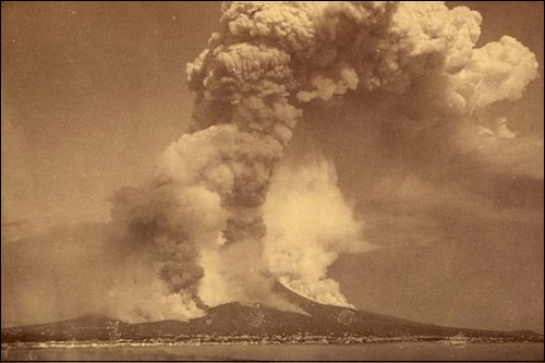 Krakatau-tulivuori Rakatan saarella Indonesiassa.