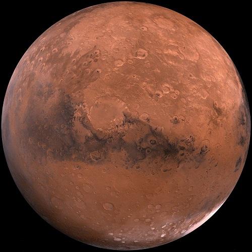 Maan naapuriplaneetta Mars.