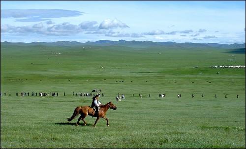 Näkymä Mongolian aroilta.