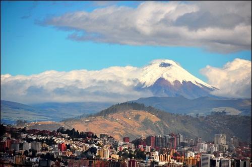 Ecuadorin pääkaupunki Quito.