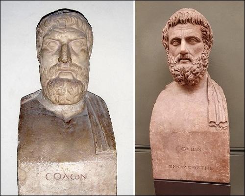 Ateenalainen valtiomies ja lainsäätäjä Solon.