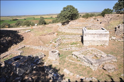 Trojan kaupungin arkeologinen paikka.
