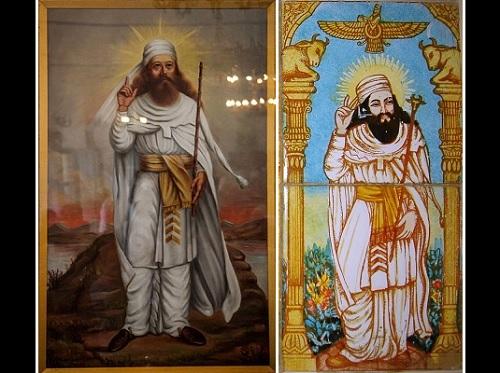 Persialainen profeetta ja zarathustralaisuuden perustaja Zoroaster tai Zarathustra.