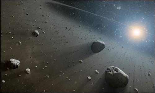 Asteroidivyöhyke Marsin ja Jupiterin ratojen välissä.