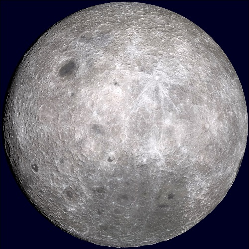 Kuun Maasta poispäin oleva puoli.