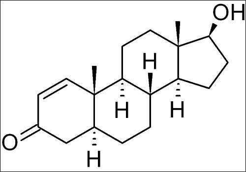 sukupuolohormoni testosteronin kemiallinen kaava