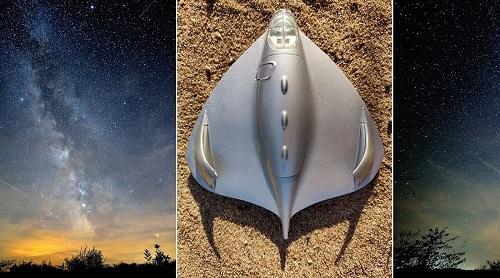 Roswellissa maahansyöksyn tehnyt avaruusalus, Roswellin ufo tai Roswellin lentävä kiekko. Testors-yhtiön valmistama pienoismalli Roswellin ufosta.
