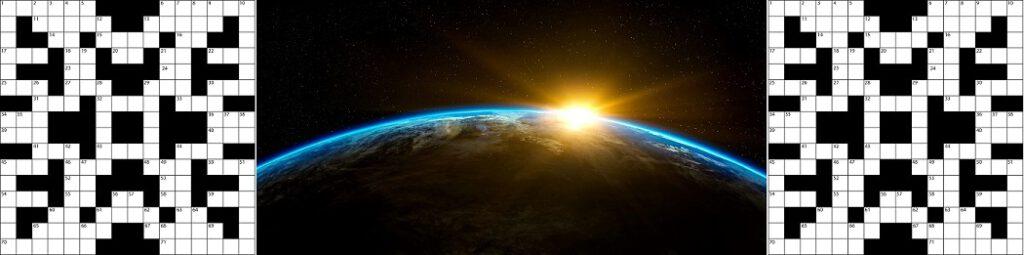 Sanaristikkona toteutettu oppimispeli planeetasta nimeltä Maa.