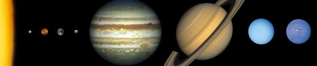 Oppimispelejä aurinkokunnan planeetoista.